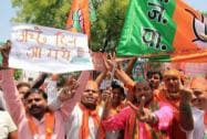 BJP workers celebrate party's victory