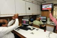Stock brokers in a happy mood