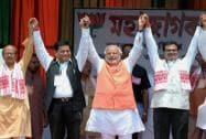 Narendra Modi campaigns in Assam