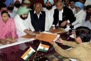 Amarinder Singh files his nomination