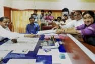 Candidates file their nomination papers