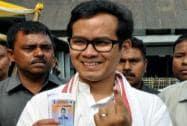 Gaurav Gogoi casts his vote