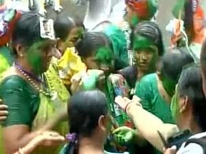 Celebrations after Assembly election results