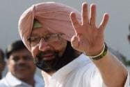 Capt Amarinder Singh arrives to attend the CWC meeting