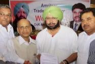Captain Amrinder Singh meets industrialists in Amritsar