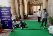 Arrangements at Parliament House for the Members of the 16th Lok Sabha