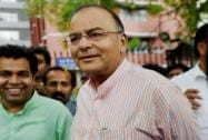 Arun Jaitley comes out of EC office after filing a complaint