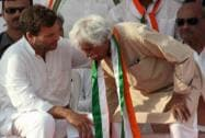 Rahul Gandhi with Congress leader Madhusudan Mistry