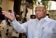 Sharad Pawar arrives to cast his vote