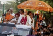 Advani campaigns in Gandhinagar