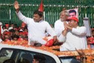 Akhilesh Yadav campaigns in Lucknow