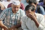 Kejriwal was slapped yesterday during a road show