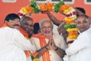 Narendra Modi campaigns in Varanasi