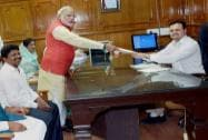 NaMo files his papers from Vadodara