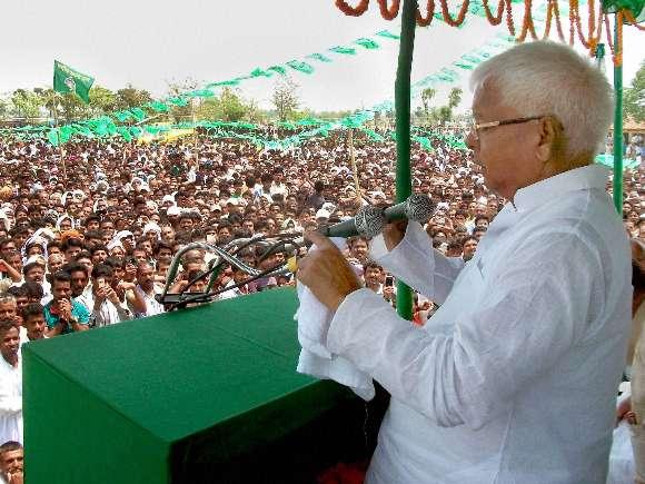 Lalu Prasad, RJD, Election rally