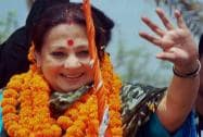 Moonmoon Sen during an election road show