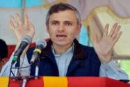 Omar Abdullah addresses an election rally