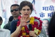 Priyanka Vadra during her election campaign