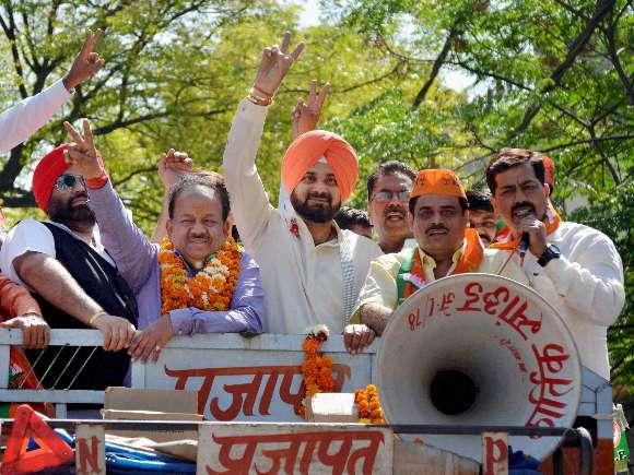 BJP, Navjot Singh Sidhu, Harsh Vardhan