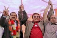 Vinod Khanna during an election campaign