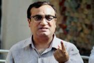Ajay Maken shows his ink-marked finger