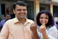 Devendra Fadnavis after casting his vote