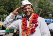 Javed Jafari during an election campaign