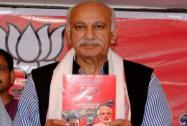 M J Akbar releases party manifesto