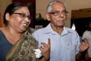 West Bengal Governor shows his ink-marked finger