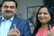 Gautam Adani casts his vote