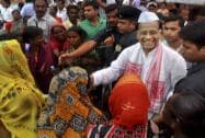 Tarun Gogoi during a Labour Day event at Guwahati