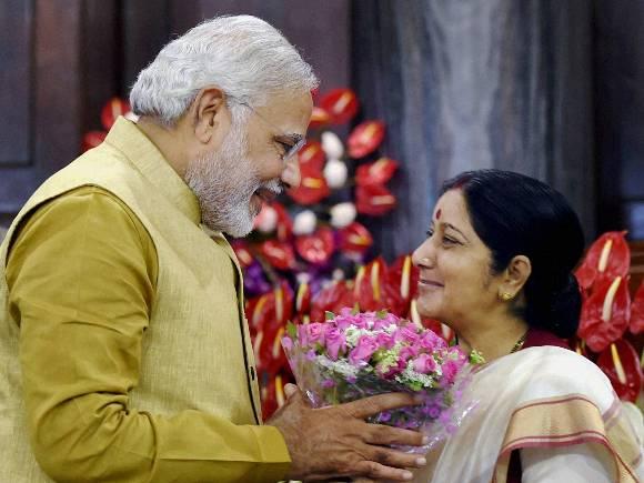 Narendra Modi, Sushma Swaraj