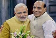 Rajnath Singh greets Modi