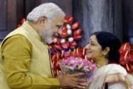 Sushma Swaraj greets Modi
