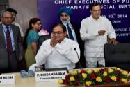 P. Chidambaram during the Annual Performance Review Meeting of Public Sector Banks and Financial Institutions