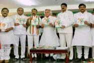 Jairam Ramesh releases election manifesto of Congress party in Hyderabad