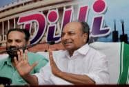 AK Antony during an election campaign in Kozhikode