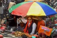 Bappi Lahiri campaigning in Hooghly