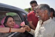 Hema Malini campaigns in Mathura