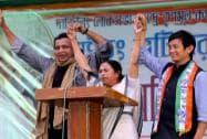 Mamata with Mithun & Baichung Bhutia