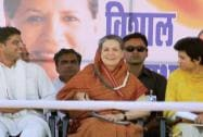 Sonia campaigns with Sachin and Selja