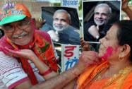 BJP workers celebrate in Bikaner
