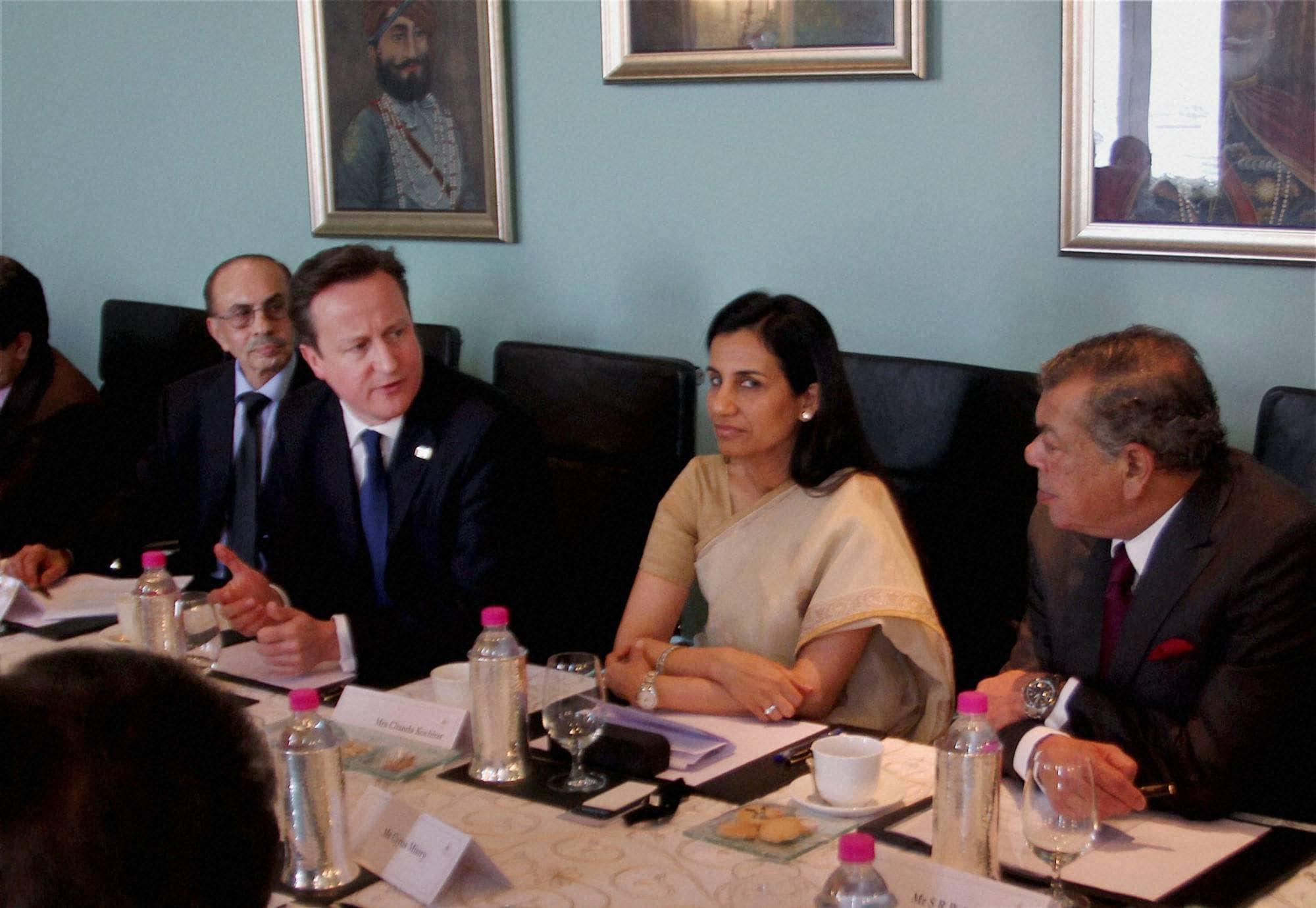 British Prime Minister, David Cameron, Chanda Kocchar, ICICI, Cyrus Mistry, Tata Group