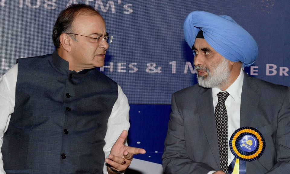 Finance Minister, Arun Jaitley, talks, G S Sandhu, Financial Services Secretary, 108th, Foundation Day, celebration, Indian Bank