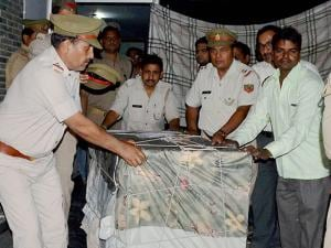 raid conducted by the Directorate of Revenue Intelligence and the forest department, in Meerut