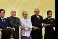 Prime Minister Narendra Modi joins hands with ASEAN leaders