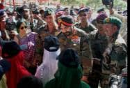 Army Chief General Bikram Singh addresses a function to commemorate the 15th anniversary of the war at Drass