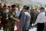 Army Chief General Bikram Singh meeting with the parents of Kargil war martyrs