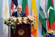 Afghanistan's President Ashraf Ghani addresses the inaugural session of the 18th SAARC Summi