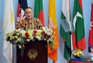 Prime Minister of Bhutan Tshering Tobgay addresses the inaugural session of 18th SAARC Summit